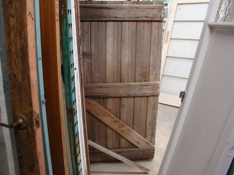 Ledge and brace shed door